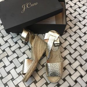 New gold wedges by J.Crew